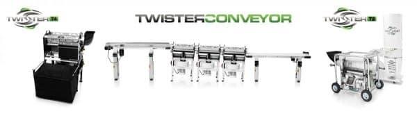 twister conveyor setup